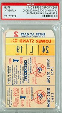 1963 World Series Dodgers at Yankees - Game 1 Ticket Stub LA