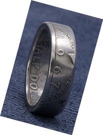1967 Silver Half Dollar Coin Ring Hand Made JFK Kennedy US