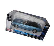 1968 Chevrolet Camaro SS 396 Blue Cnv 1:24 Diecast Car