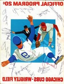 1974 Chicago Cubs Wrigley Field Official Program