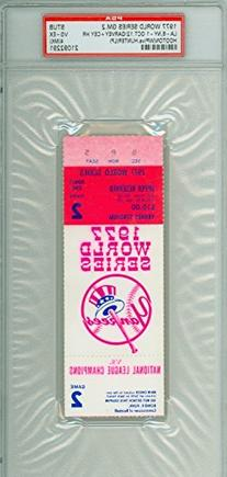1977 World Series Dodgers at Yankees - Game 2 Ticket Stub LA