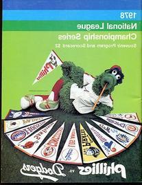 1978 NLCS Championship Program Phillies v Dodgers Ex Cond