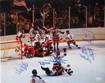 1980 Team USA Hockey Multi-Signed 16x20 Miracle On Ice Photo