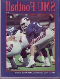1989 Texas Longhorns vs SMU Mustangs Football Program