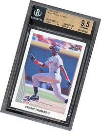1990 leaf #300 FRANK THOMAS rc rookie BGS 9.5  Graded Card