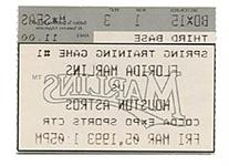 1993 Florida Marlins 1st Spring Training Ticket Stub