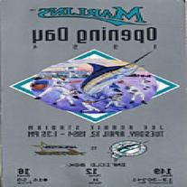 1994 Florida Marlins Opening Day Full Ticket