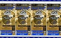 1995 Colorado Rockies World Series Phantom Tickets