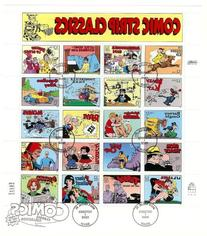 1995 Comic Strip Classics, Full sheet w First day of issue