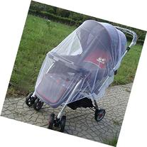 1x Whtie Stroller Pushchair Mosquito Insect Net Mesh Buggy