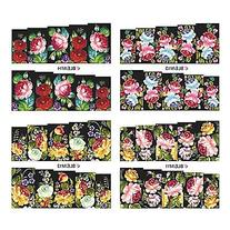 EVERMARKET 1x10PCS Colorful Blossom Pattern Water Transfer