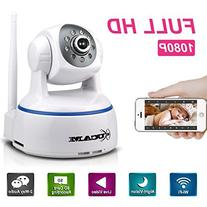 KUCAM 1080P 2.0 Mega Wireless Wifi IP Security Camera, Night