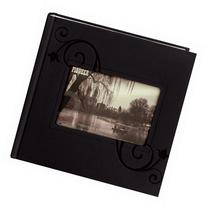 "4""x6"" 2-up 200 Memo Pocket Embossed Leatherette Frame Photo"