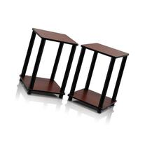 Furinno 2-99800RDC Turn-N-Tube End Table Corner Shelves, Set