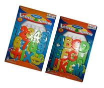 Magnetic Learning Letters and Numbers, Total 52 Piece Set