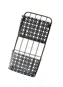 2 Pocket Wall File Holder, Black