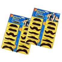 2 Self Adhesive Set 12 Fake Mustaches Costume Party Disguise