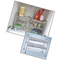2 Tier Expandable Adjustable Under Sink Shelf Storage