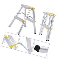 New 2 Step Aluminum Ladder Folding Platform Work Stool 330