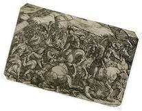 2 Antique Prints-BATTLE-AMALECITES-VELASQUEZ-GONZALO GOMEZ-