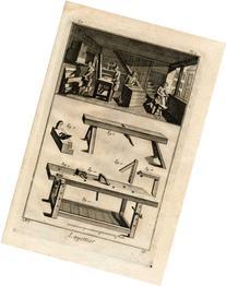 2 Antique Prints-WOOD BOX MAKER-Panckoucke-1769