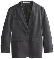 Perry Ellis Big Boys' 2 Button Nail Head Jacket, Dark Grey,