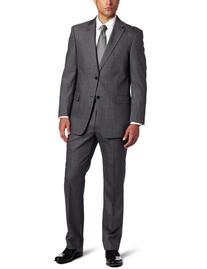 Tommy Hilfiger Men's 2 Button Side Vent Trim Fit Solid Suit