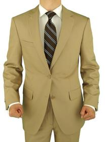 Salvatore Exte Men's 2 Button Tan Beige Suit