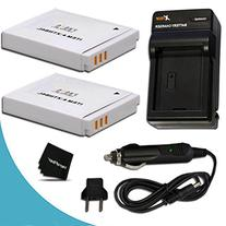 2 Pack NB-6L/NB6L Battery + Battery Charger for Canon