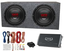 "2) Boss CH10DVC 10"" 3000W Car Subwoofers Subs+Sealed Box"