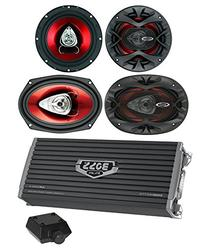 "2) Boss CH6520 6.5"" 250W + 2) 6x9"" 350W 2-Way Car Speakers+"