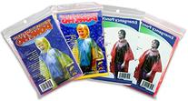 RainStoppers 2 Adult Emergency Ponchos and 2 Children