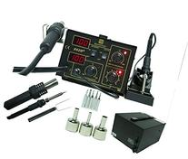 2 in 1 SMD Soldering Hot Air Rework Station + Stand 3 Nozzle
