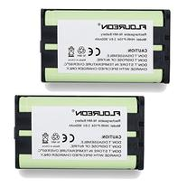 Floureon 2 Packs Home Phone Battery For Panasonic HHR-P104,