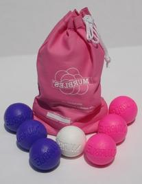Standard 2 player 7 ball pink and purble Murble set