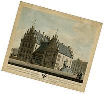 2 Rare Antique Prints-CITY HALL-WINERY-GRONINGEN-Numan-ca.