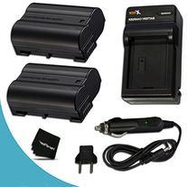 2 High Capacity EN-EL15 Batteries and Battery Charger Kit