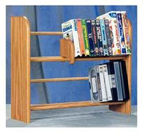 2 Row Dowel Media Rack