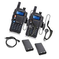 2 Set of BAOFENG UV-5X UHF+VHF Dual Band/Dual Watch Two-Way