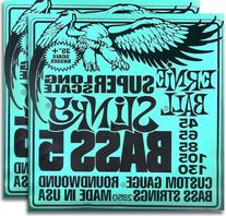 2 Sets of Ernie Ball 2850 5 String Slinky Super Long Scale