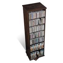 2 Sided Spinning Tower Media Storage - Espresso