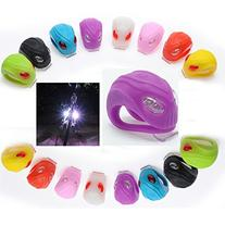 Soondar® 2 Pack 2-LED Silicone Bike Bicycle Cycling Frog
