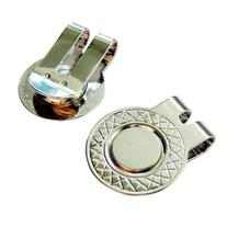 2 Silver Magnetic Hat Clips for Metal Golf Ball Markers