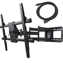 VideoSecu MW380B2 Full Motion Articulating Dual Arms TV Wall