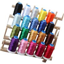 20 Cone Set Polyester Embroidery Thread 1000m Spools -