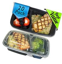 Misc Home  32 Oz Two Compartment Meal Prep Containers BPA-