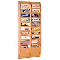 20-Pocket Wall Magazine Rack