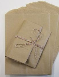 My Craft Supplies 200 Small Brown Kraft Paper Bags, 3 1/2 X