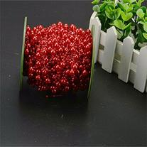 Krismile®200 Feet Roll Red Pearl String Party Garland