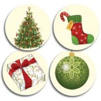 Lacy Ornaments Christmas Seals - 200 Pack